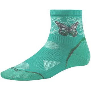 SmartWool 2013 PhD Ultralight Run Socks   Merino Wool  Quarter Crew (For Women)   SILVER (M )