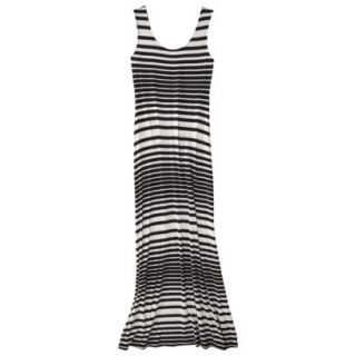 Merona Petites Sleeveless Maxi Dress   Black/Cream MP
