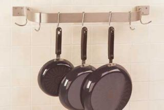 Advance Tabco 60 Residential Wall Mount Pot Rack   9 Double Hooks, Stainless