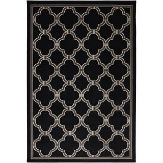 Mohawk Home Parsonage Indoor/Outdoor Rectangular Rugs, Black