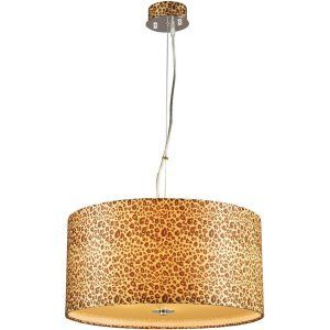 PLC Lighting PLC 73097 PC CFL Leopard 5 Light Pendant Leopard Collection
