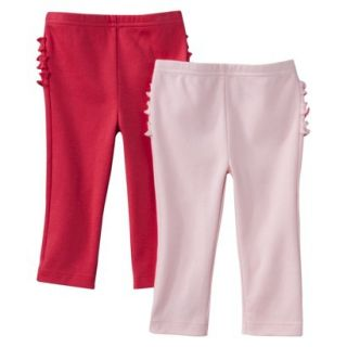 Just One YouMade by Carters Newborn Girls 2 Pack Pant   Pink/Red 18 M
