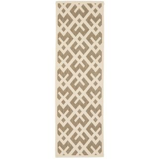 Safavieh Indoor/ Outdoor Courtyard Brown/ Bone Rug (24 X 14)