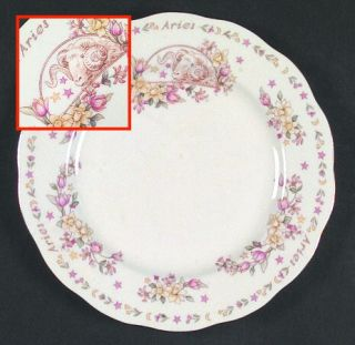Royal Albert Zodiac Series Salad Plate, Fine China Dinnerware   Floral Rim With