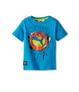 Puma Kids Cat Drip Tee Boys Short Sleeve Pullover (Blue)