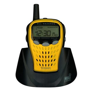 Oregon Scientific Yellow Emergency Weather Radio (YellowDimensions 5.4 inches high x 8.9 inches wide Weight 0.9 poundsRequires three (3) AA batteries (not included)Related Information / Special FeaturesFlexible programming???select Specific Area Messag