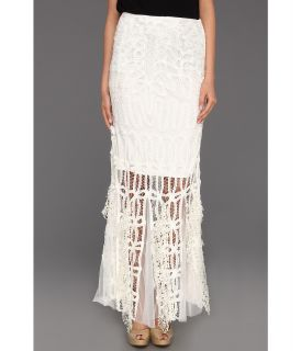 Free People Pieced Lace Maxi Skirt Womens Dress (White)
