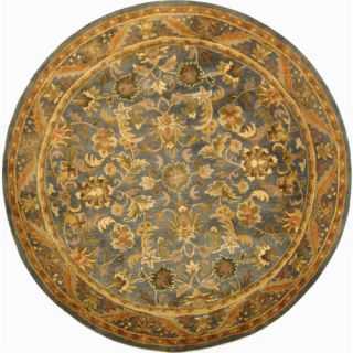 Safavieh Antiquities Majesty Blue/Gold Rug AT52C Rug Size Round 6