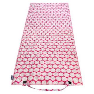 Wildkin Big Dot Beach Roll Up Mat   PinkWhite
