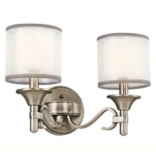 Kichler 45282AP Bathroom Light, Transitional Bath 2Light Fixture Antique Pewter