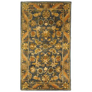 Safavieh Antiquities Majesty Blue/Gold Rug AT52C Rug Size Runner 23 x 4
