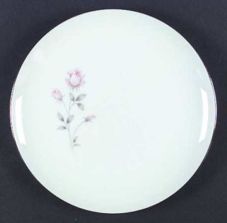 Royal Prestige Rose Crest Dinner Plate, Fine China Dinnerware   Pink&White Roses