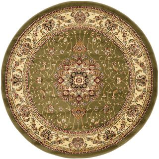 Lyndhurst Collection Sage/ivory Area Rug (5 3 Round)
