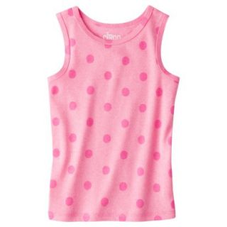 Circo Infant Toddler Girls Ribbed Polka Dot Tank Top   Dazzle Pink 2T
