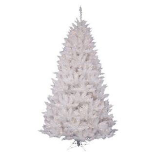 9.5 Pre Lit White Spruce Tree   Clear Lights