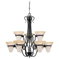 Sea Gull Lighting SEA 3212 185 Saranac Lake Nine Light Saranac Lake Chandelier