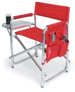 Picnic Time Sports Chair with Table and Pockets   Red