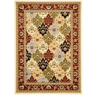 Lyndhurst Collection Traditional Multicolor/red Rug (8 X 11) (MultiPattern OrientalMeasures 0.375 inch thickTip We recommend the use of a non skid pad to keep the rug in place on smooth surfaces.All rug sizes are approximate. Due to the difference of mo