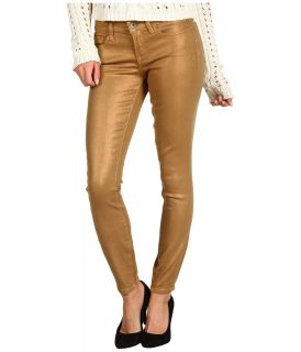 Lucky Brand Charlie Skinny Jean in Coated Sparkle Gold Womens Jeans (Gold)