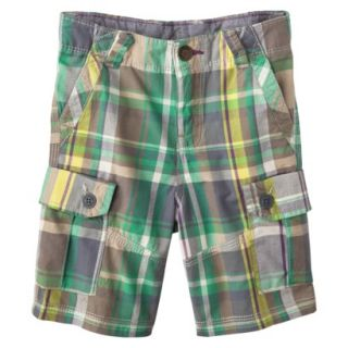 Genuine Kids from OshKosh Infant Toddler Boys Plaid Cargo Short   Green 2T