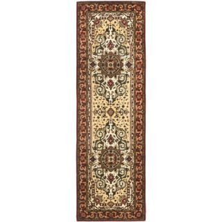 Safavieh Persian Legend Ivory/Red Rug PL528A Rug Size Runner 26 x 8