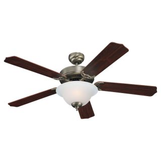 Sea Gull Lighting Quality Max Plus 52 inch Antique Brushed Nickel Ceiling Fan With Bowl Light