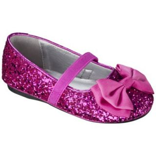 Toddler Girls Jayna Glitter Ballet Flat   Bright Pink 6