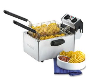 Waring Countertop Single Deep Fryer w/ 3 lb Each Capacity & 2 Baskets, Timer, 120V