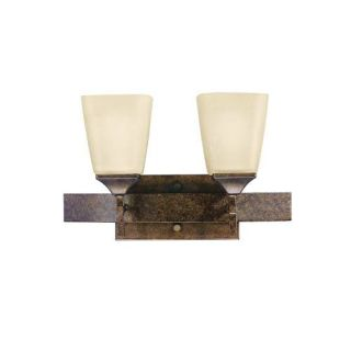 Kichler 5315MBZ Bathroom Light, Transitional Bath 2Light Fixture Marbled Bronze
