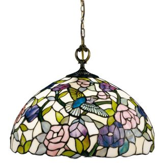 Dale Tiffany Nature Hummingbird 1 Light Pendant 7655/1LTA