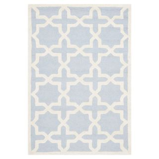 Safavieh Cambridge Light Blue / Ivory Rug CAM125A 10 / CAM125A 1115 Rug Size