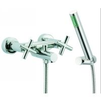 Fima Frattini S5304SN Maxima Wall Mounted Tub Faucet With Hand Shower Set