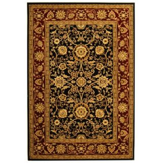 Lyndhurst Collection Majestic Black/ Red Rug (9 X 12)