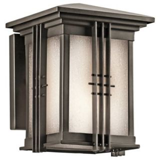 Kichler 49157OZ Outdoor Light, Arts and Crafts/Mission Wall Mount 1 Light Fixture Olde Bronze