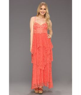 Free People Summer Breeze Party Dress Womens Dress (Coral)