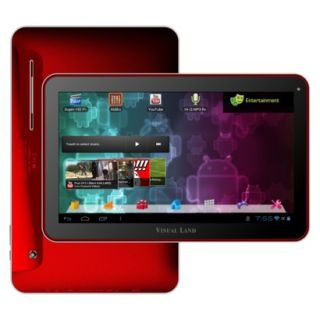 Visual Land Prestige 10 Android Tablet (ME 110 16GB RED) with 16GB Internal