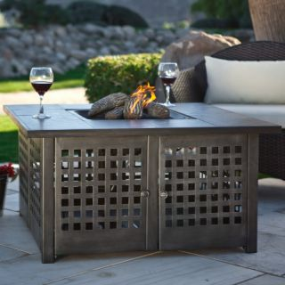 Gas Fire Pit Uniflame LP Gas Fire Pit with Grey Slate Top