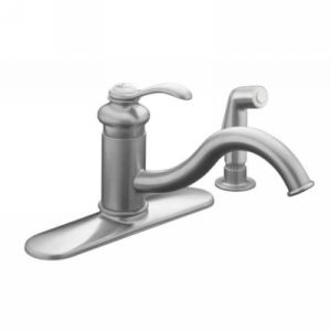 Kohler K 12172 G Fairfax Single Handle Kitchen Faucet with Sidespray
