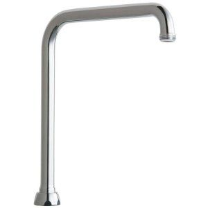 Chicago Faucets HA8AJKABCP Universal 8 in. Brass Rigid/Swing High Arc Spout