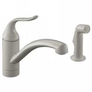 Kohler K 15076 P 96 Coralais Single Handle Kitchen Faucet with Sidespray