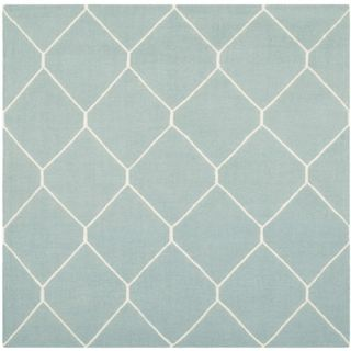 Safavieh Dhurries Light Blue/Ivory Rug DHU635C Rug Size Square 6 x 6