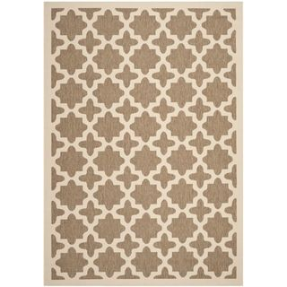 Safavieh Indoor/ Outdoor Courtyard Brown/ Bone Rug (8 X 11)