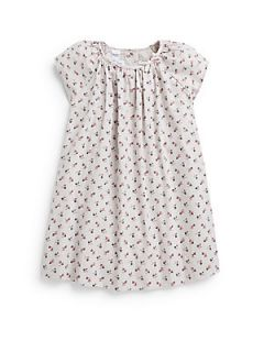 Toddlers & Little Girls Printed Cap Sleeve Top   White Floral