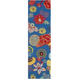 Safavieh Four Seasons Blue / Red Rug FRS470A Rug Size Runner 23 x 8