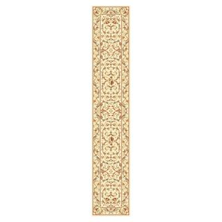 Lyndhurst Collection Traditional Ivory/ Ivory Runner (23 X 12) (IvoryPattern FloralMeasures 0.375 inch thickTip We recommend the use of a non skid pad to keep the rug in place on smooth surfaces.All rug sizes are approximate. Due to the difference of mo