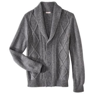 Merona Mens Shawl Collar Cardigan   Heather Gray L