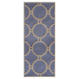Safavieh Cambridge Light Blue / Ivory Rug CAM145A Rug Size Runner 26 x 4