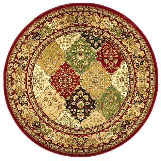 Lyndhurst Collection Multicolor/ Red Rug (8 Round)