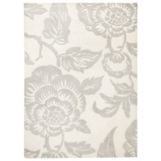 Threshold Wool Floral Area Rug   Shell (5x7)