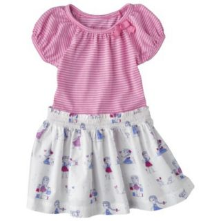 Cherokee Infant Toddler Girls Short Sleeve Dress   Strawberry Shake 18 M